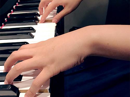 ピアノレッスン風景1