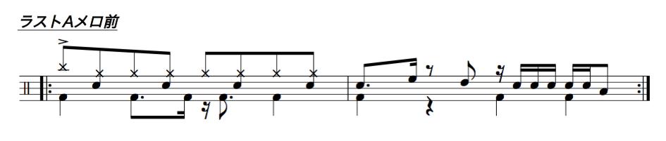 ドラム譜面4