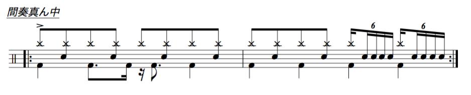 ドラム譜面3