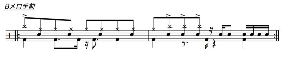ドラム譜面2