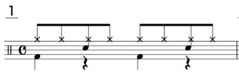 ドラム 8beat