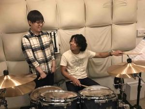 秋葉原LiveArtドラム教室 レッスン風景