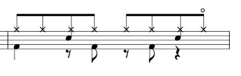 ドラム教室 8beat HHopen