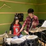 ドラム教室 レッスン風景