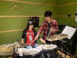 新宿ドラム教室 レッスン風景