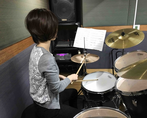 ドラム練習 譜面台の高さ 良い例