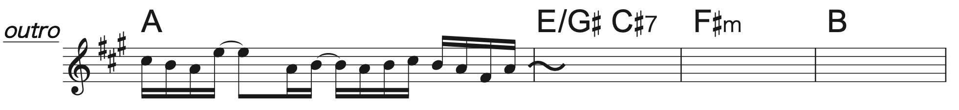 Pretender Aコード楽譜(半音上げ)3