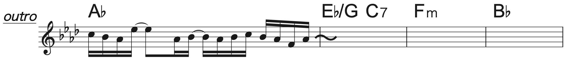 Pretender A♭コード楽譜1