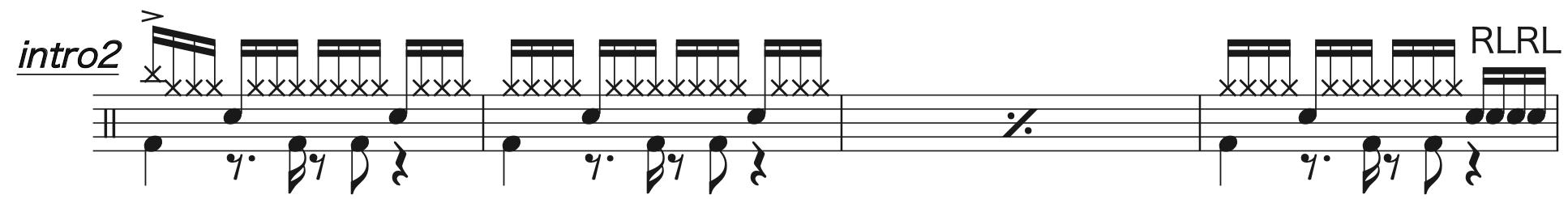 Pretender,ドラム完コピ楽譜1