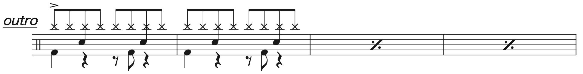 Pretender,ドラム楽譜3