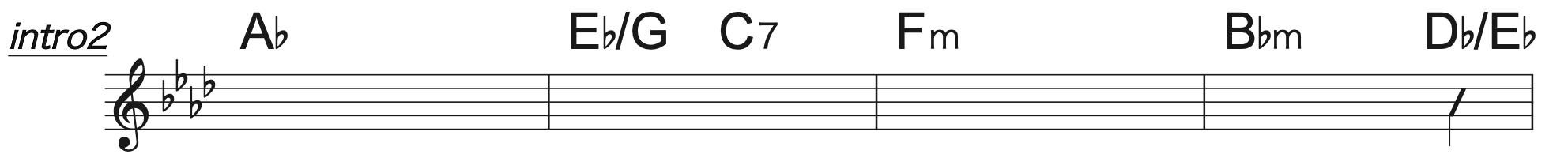 Pretender A♭コード楽譜3