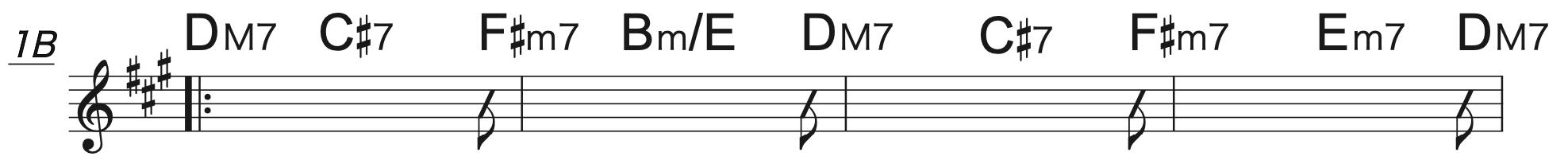 Pretender Aコード楽譜(半音上げ)2