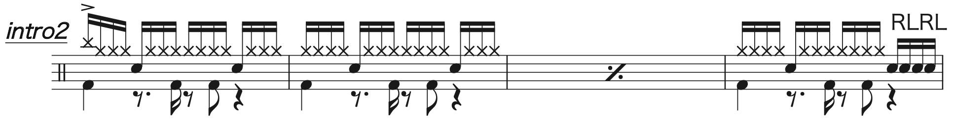 Pretender,経験者ドラム楽譜1