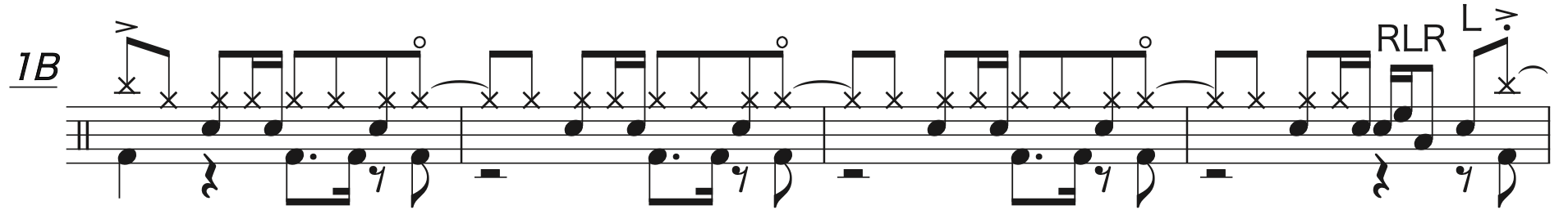 Pretender,経験者ドラム楽譜2