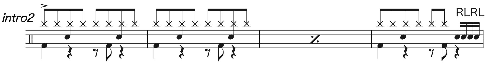Pretender,ドラム楽譜1