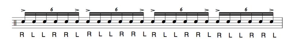 ドラム教室,6strokeの説明