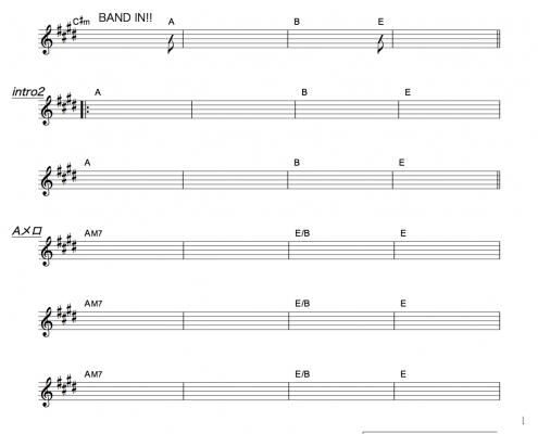 ASIAN KUNG-FU GENERATION・リライト・コード譜面1