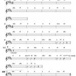 米津玄師 ,Lemon コード楽譜1