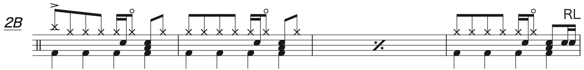 別の人の彼女になったよ,ドラム中級者楽譜2