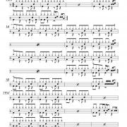 マリーゴールド,ドラム譜面1