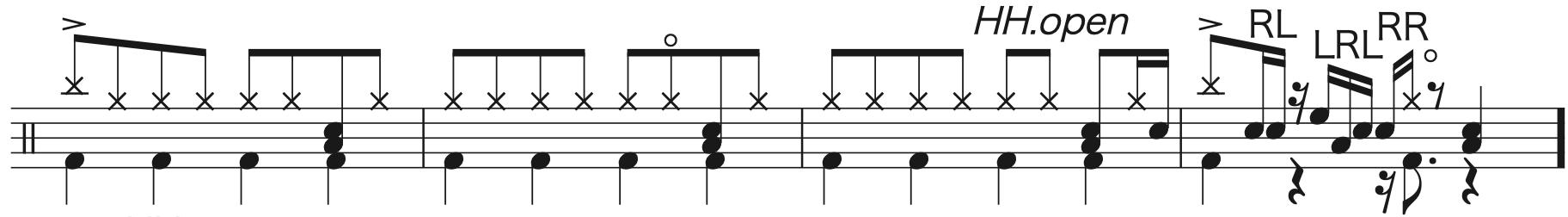別の人の彼女になったよ,ドラム中級者楽譜1