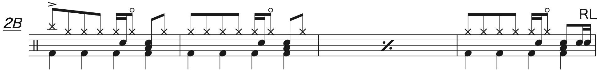 別の人の彼女になったよ,ドラム完コピ楽譜2