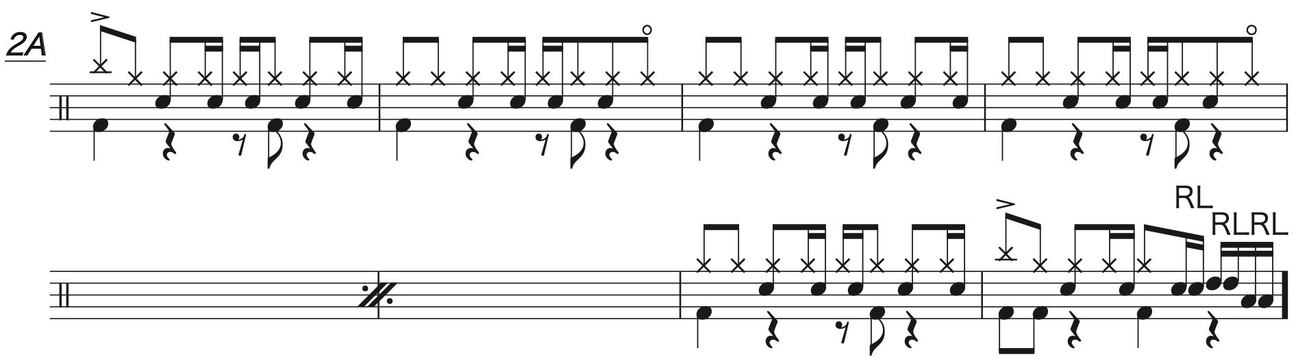 マリーゴールド,ドラム完コピ楽譜3