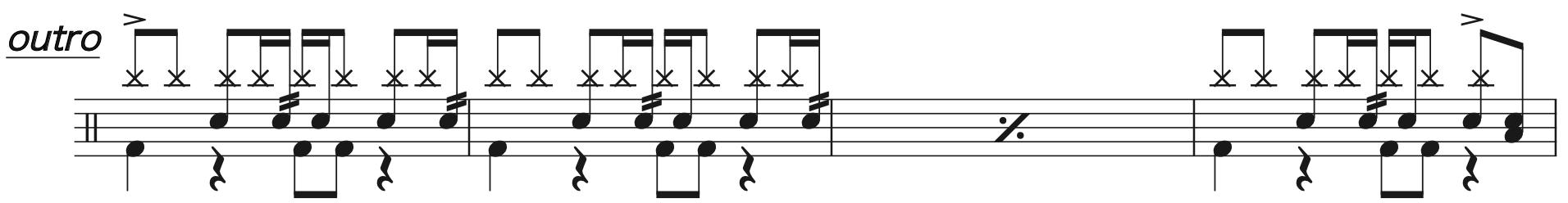別の人の彼女になったよ,ドラム完コピ楽譜3