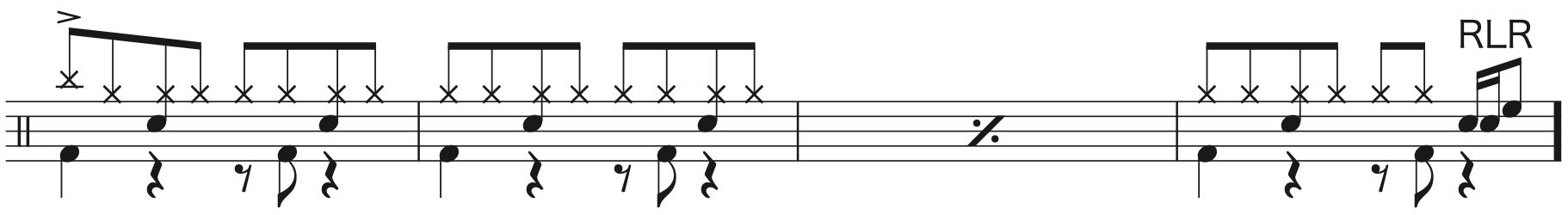 別の人の彼女になったよ,ドラム簡単楽譜1