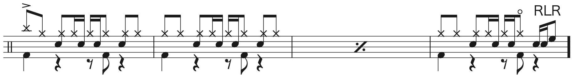 別の人の彼女になったよ,ドラム中級者楽譜3