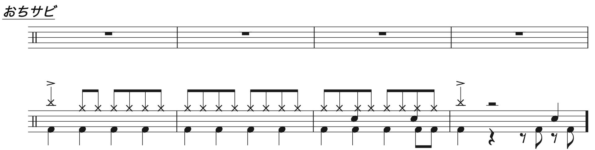 マリーゴールド,ドラム完コピ楽譜2