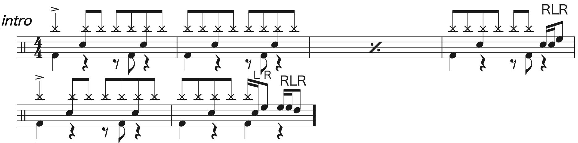 マリーゴールド,ドラム簡単楽譜1