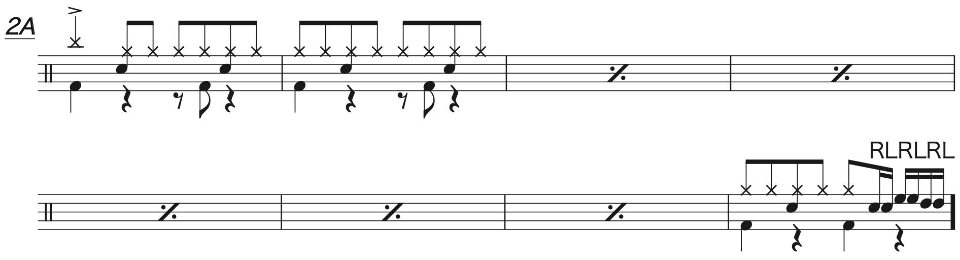 マリーゴールド,ドラム簡単楽譜2