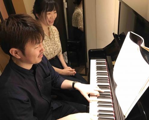 ピアノ教室、レッスン風景