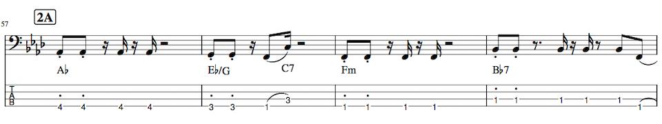 Pretender,ベース練習TAB譜2