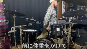 ドラムストレッチの様子2