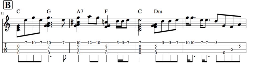 涙そうそう,ソロウクレレ楽譜2
