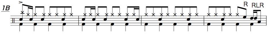 夜に駆ける,ドラム楽譜3