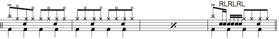 夜に駆ける,ドラム楽譜2