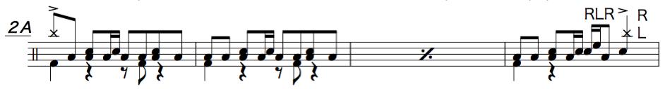 紅蓮華,ドラム簡単楽譜2