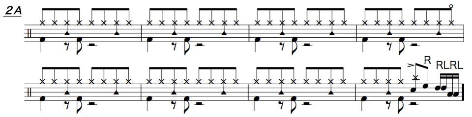 炎,ドラム簡単楽譜