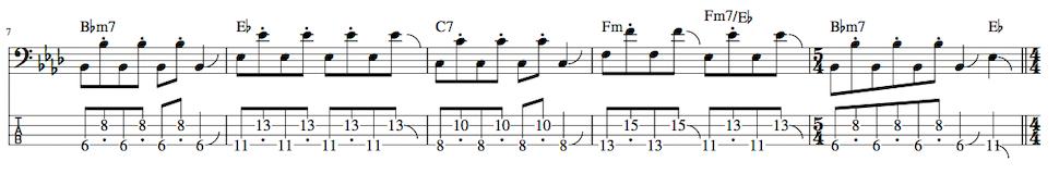 シャングリラ,ベース楽譜,TAB譜1