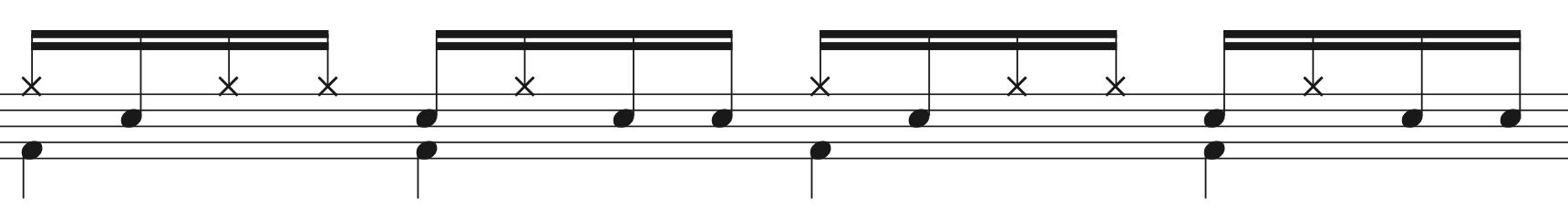 パラディドル,ドラムフレーズ解説1